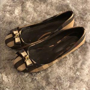 Burberry ballet slippers Sz 38